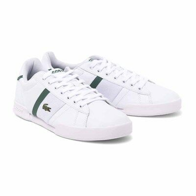 96a67765a6b05 Lacoste trainers mens Designer new Deston 117 1 White Leather Casual shoes  UK10