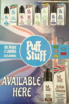 E LIQUID 10 ML VAPE JUICE BEST FLAVOURS PUFF STUFF [Buy 3 Get 1 Free!] 3mg/ml