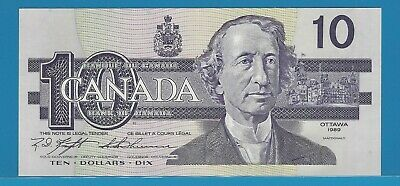 1989 Bank Of Canada $10 BEG9982629  BC-57c  Knight / Thiessen Gem Uncirculated