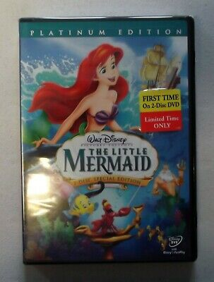 The Little Mermaid DVD, 2006, 2-Disc Set, Platinum Edition Sealed!  Free Ship!