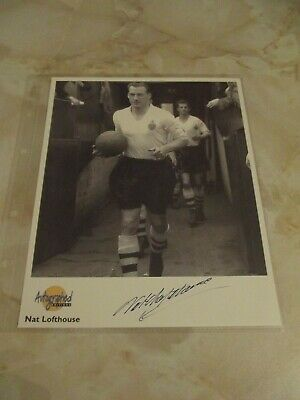 Westminster Autographed Editions NAT LOFTHOUSE (Football)