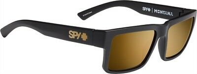 381be15d13 New Spy Montana Soft Matte Black Happy Bronze Gold Mirror Surf Golf  Sunglasses