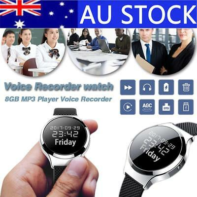 Micro Mini Recording Pen Pro HD Remote Wristband Watch Recorder Wristband Voice