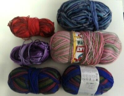 Yarn-Lot Of Sock Yarn--Assorted Colors And Brands
