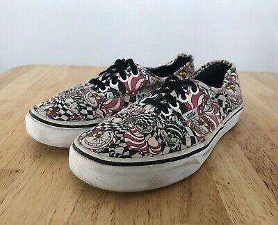 94e8077358e045 Disney Vans 2013 Alice In Wonderland Cheshire Cat Shoes Sneakers Women 7.5  Men 6