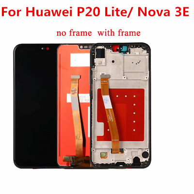 For Huawei P20 Lite Nova 3E LCD Display Touch Screen Digitizer Frame Assembly R2