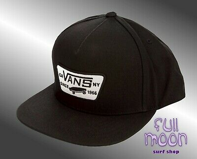 d608ee20 VANS - FULL PATCH Mens Hat (NEW) Snapback Cap GREY GRAY BLACK Free ...