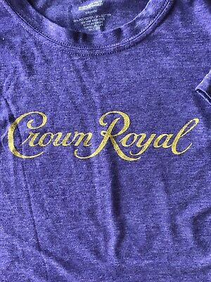 NWOT Women's Crown Royal Purple Shirt Size Medium
