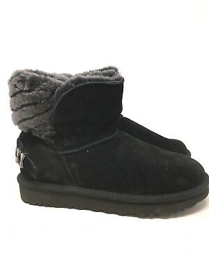 5e732796cce UGG ADRIA BLACK Short Boots Style#1013306 Size:6