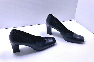 30beed6482c PRADA BLACK LEATHER Pumps Heels Made In Italy Size 37.5 US 7.5 Shoes ...