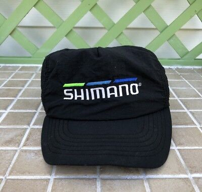 Vintage Retro Shimano Fishing Snapback Hat Cap Made in USA- Black Riding  Outdoor 92bf3c0a07e5