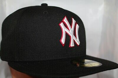 best authentic 43a9b 4ed33 New York Yankees New Era MLB Black Red Out 59Fifty,Cap,Hat   37.99