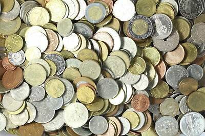 Huge Unsearched Lot of World Foreign coins a huge 1 Kilo (2.2 Lbs) & Gift added