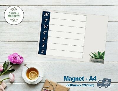 A4 Succulent Fridge Magnet Whiteboard Family Planner Weekly Calendar Diary Notes