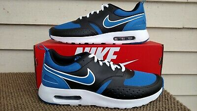 low priced 6a137 9caeb Nike Men s Air Max Vision Running Shoe Sneaker Black Blue White Size 9 1 2