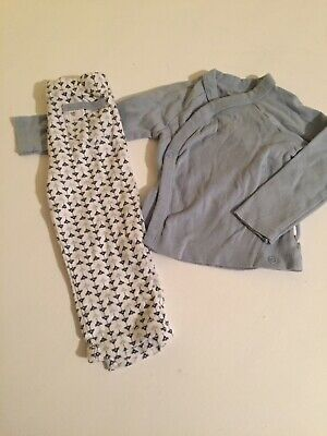 6-9 Months BURTS BEES BABY 2-pc sleeper Boys