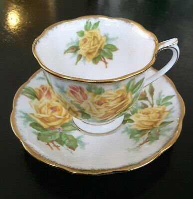 Royal Albert Tea Rose Cup And Saucer - Yellow Flowers