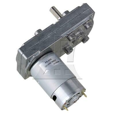 DC 12V 10RPM Silver Metal Square High Torque Geared Motor