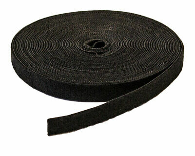 "1/2"" Inch Roll Hook and Loop Reusable Cable Ties Straps 10M 33ft 5 Pack"