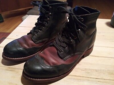 b18bfe6aa4e WOLVERINE 1000 MILE Addison Wingtip Brogues - Black/Brown Leather Size 7.5