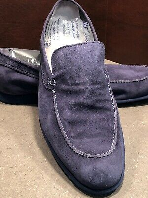 84b3199ada3 COLE HAAN NAVY Blue SLIP ON FLATS SHOES Loafers TINY BOW TIE FRONT ...