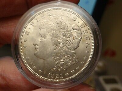 1921 Morgan Silver Dollar*** Unc Ch Bu*** Lot 1553