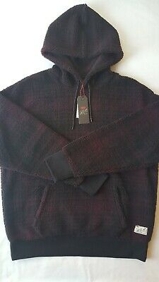 Levi's x Justin Timberlake Sherpa Pullover Men's Hoodie Wine Plaid NEW X Large