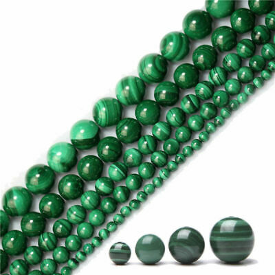 Round 4mm Beads Malachite 12mm 8mm 10mm Spacer Loose 15.5'' Gemstone Strand 6mm