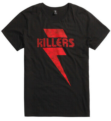 The Killers RED LIGHTNING BOLT LOGO T-Shirt NEW XS-3XL Licensed & Official
