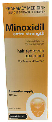 Minoxidil Extra Strength 5% Solution Hair Regrowth Treatment 3 Months  (180 Ml)