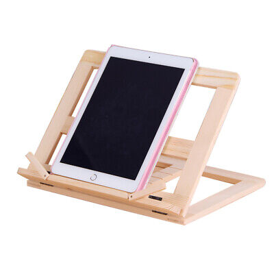 1pc Book Holder Wooden Foldable Tablet Stand Book Reading Holder for Table Book