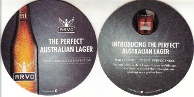 Arvo Beer - The Perfect Australian Lager Round Coaster - Beer Mat