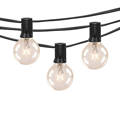 100FT Outdoor Patio String Lights with 100 Clear Globe G40 Bulbs, UL Certified