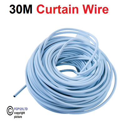 30m(100ft) Curtain Wire-Flexible Durable Window Door Curtains Cord S6170 Am-Tech