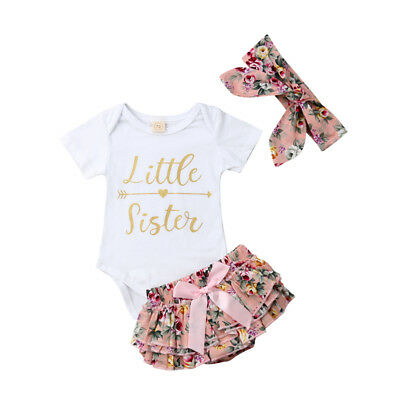 Canis Toddler Baby Girls Romper Bodysuit Jumpsuit Floral Pants Headband Outfits