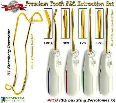 Tooth Extraction Instruments Set PDL Elevators Periotome Luxating With Sternberg