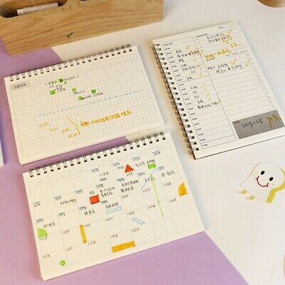 DIY Planner Book Monthly Weekly Daily Agenda Schedule Blank Diary Study*Notebook