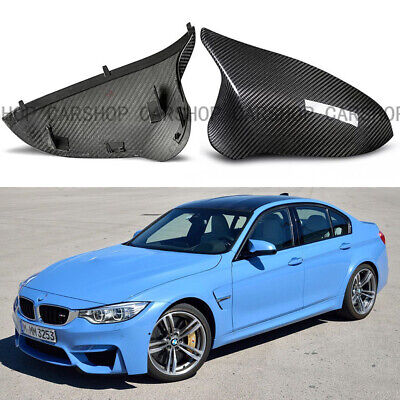 For Bmw M3 M4 F80 F82 15 18 Real Carbon Fiber Side Mirror Cover Caps