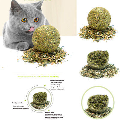 Health Cat Mint Ball Toys Coated Catnip Pet Kitten Gasping Play Game Toy