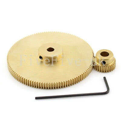 0.5M120-30T Module 0.5 Motor Metal Gear Wheel Set Kit Ratio 4:1 Wheelbase 37.5mm