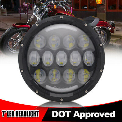 """78W 7""""Inch Motorcycle Projector Daymaker Headlight LED DRL Headlamp For Harley"""