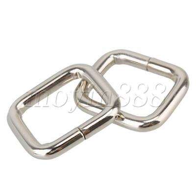 20 Pieces Metal Square Buckles Bag Strap Connectors Webbing Rings for DIY Making