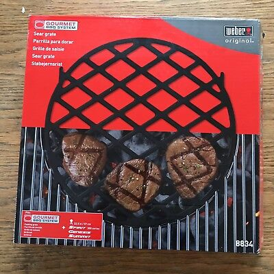 *BRAND NEW* Weber Gourmet BBQ Barbecue System Sear Grate (8834)