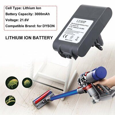 21.6V 3000mAh Li-ion Battery Replacement for Dyson V6 DC61 DC58 DC59 DC74 BC683