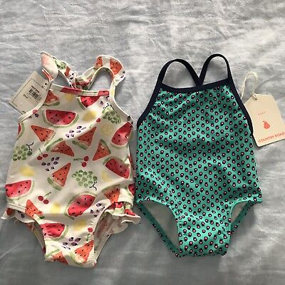 COUNTRY ROAD and BEBE girls baby Swimmers - size 00 (3-6 Months). BNWT