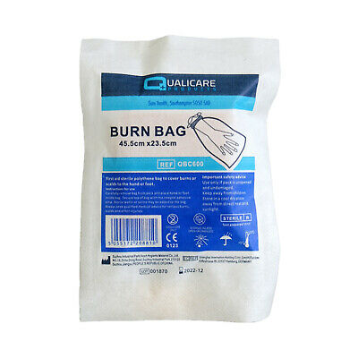 Qualicare Sterile Hand Feet Scold Burn Bag Emergency Injury First Aid Kit Box