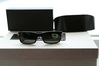 b90af5d5d17 Persol PO2803S Men s Sunglasses Black   Crystal Green Polarized Lens 95 58