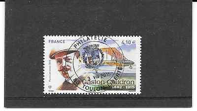 France 2015. Gaston Caudron ( 1882-1915 ).timbre Gum Seal Round Pa. N° 79