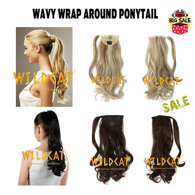 SALE!Wrap Around Ponytail Clip in hair extensions Ombre Dip dye Wavy & Curly