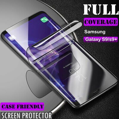 Full Cover Soft Screen Protector for Samsung Galaxy S10 S9 Plus [Case Friendly]
